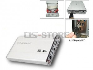 "USB 2.0 External Hard Drive Enclosure Box for 2.5"" IDE+SATA HDD Combo with BIG Circuit board Glossy style"