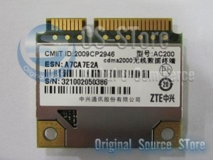 ZTE AC200 Half Mini PCEIe PCI-express 2G 3G WWAN WLAN Wireless WIFI Card Module CDMA EV-DO GPS
