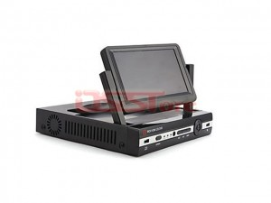 H.264 4 Channel D1 DVR System with 7 Inch LCD Display Screen
