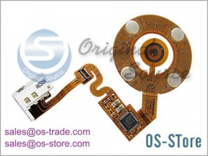 Wheel Button Flex Cable Replacement for iPod Nano 2nd White