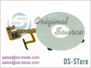 Wheel Button with Flex Cable Replacement for iPod Video 5G 5th Gen White