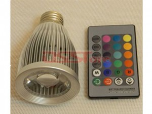 E27 7W 1pcs LED Colorful Rotating RGB Spot Light White Light For Chrismas Party AC85-265V