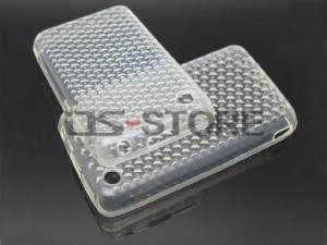 Transparency Diamond Soft TPU Gel Back Skin Protecter Protector Protective Protection Cover Case Housing for Apple iPhone 3G 3GS Cell Mobile phone