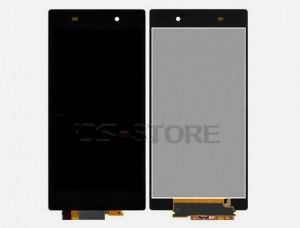 "5.0"" TFT Assembly Full LCD Display Screen+Touch Digitizer Panel Replacement for Sony Xperia Z1 L39h with front cover frame"