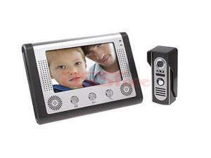 7 inch TFT-LCD Color Video Door Phone, 6PCS Led For Night Vasion