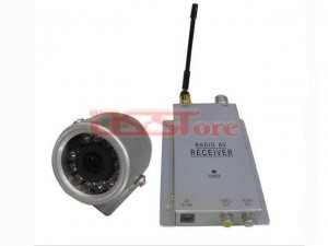 Wireless Micro CCTV Camera with Receiver Set 1.2GHz Night Vision 1/3 Inch CMOS