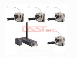 2.4G Wireless USB DVR mini wireless Camera Kit Security System +4Pcs Wireless Camera