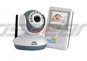 2.4G Wireless Digital Baby Monitor 2.5'' LCD Display Nght Vision Two-Way Intercom Real-Ttime Security Monitoring