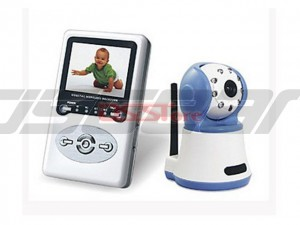 2.4G Wireless Baby Monitor For 2.4''LCD Display Night Vision And 100M Transmitting Range 2-Way Speaker Receiver