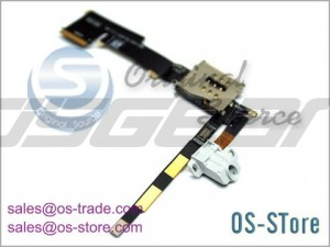 Audio Jack Cable with Sim Connector Replacement for apple iPad 2 3G+Wifi White