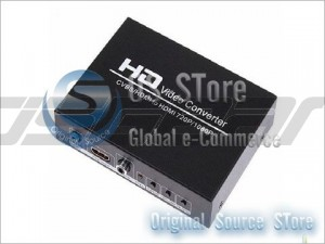 New AV+HDMI to HDMI Converter Adapter HD 1080P