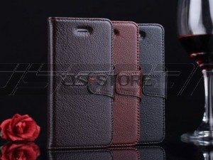 Yak Skin Leather Flip Business Wallet Stand Pouch Case Cover for iPhone 5 5G 5S 5GS